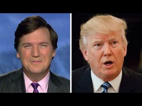 Tucker Carlson Sounds Off On Nightly News' Trump Hysterics
