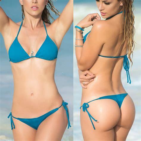 Sexy String Thong Bikinis Womens 2017 Bikini Set Swimwear Female Beach Sex May Triangle Top Bra