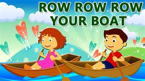 Row Row Row Your Boat Lyrics by Row Row Row Your Boat Nursery Rhyme With Lyrics Lullaby