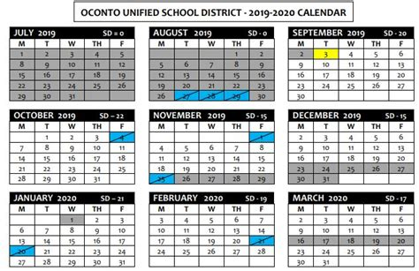 oconto unified school district homepage
