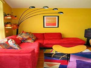Living Room : Bright Yellow Wallpaper Decoration For ...
