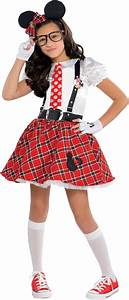 Girls Minnie Mouse Nerd Costume - Party City | Riley's ...