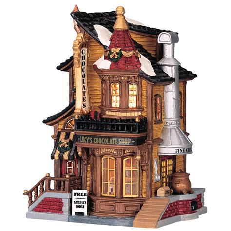 lemax lucy s chocolate shop lighted building 45052