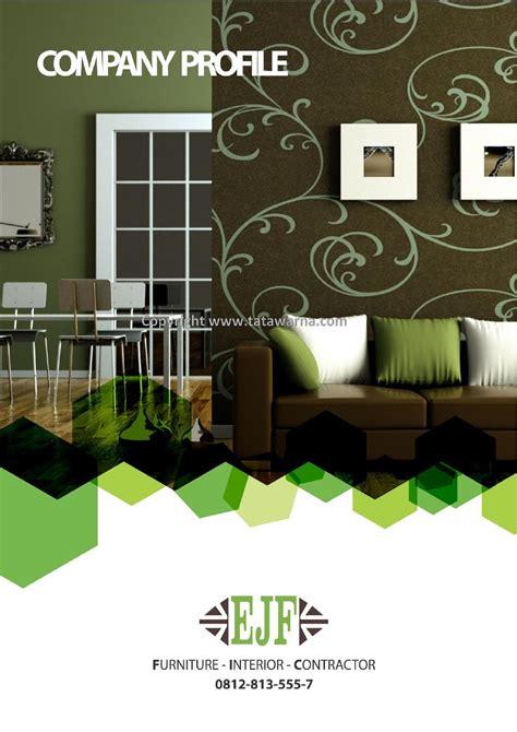contoh desain company profile perusahaan furniture  interior contractor  occy tata warna