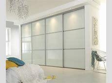 White glass sliding wardrobe doors Linear sliding