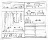 Closet Clipart Ouverte Armoire Wardrobe Clipground sketch template