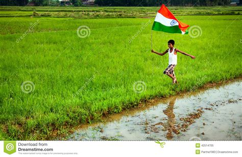 Boy With Indian National Flag Editorial Image - Image