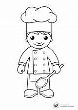 Chef Coloring Getdrawings sketch template