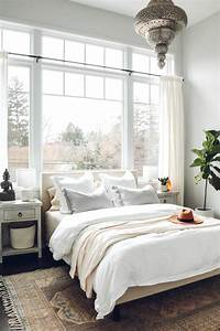 White, Boho, Master, Bedroom, Makeover