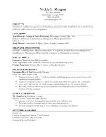 resume work experience format image resume exle ii limited work experience
