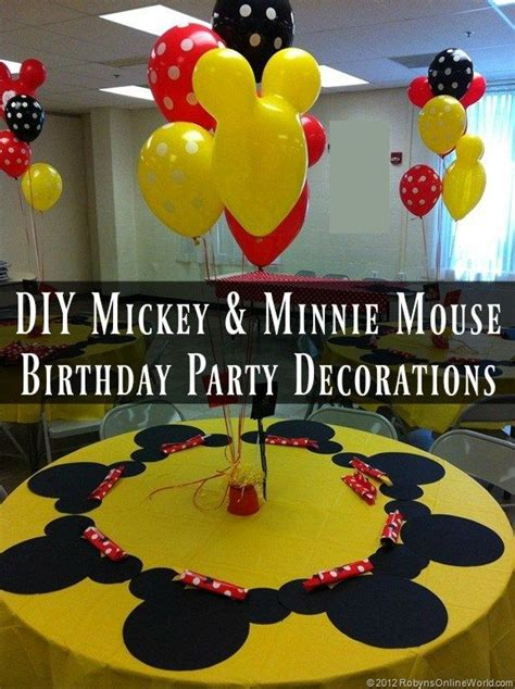 Mickey And Minnie Decorations - diy mickey mouse and minnie mouse decorations