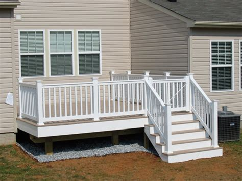 small deck ideas small decks here s a small white deck behind an