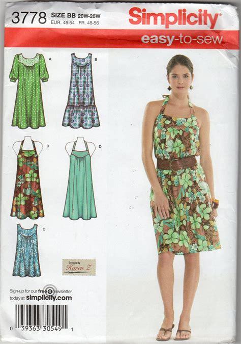 womens easy dress halter dress tunic pattern size