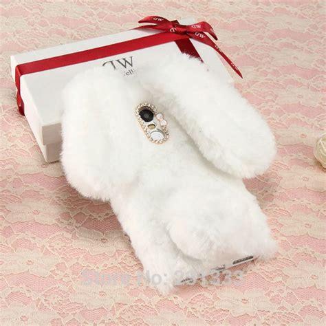 rabbit ear hair fur soft tpu for iphone 7 plus 6 6s se 5 5s samsung galaxy s8 plus