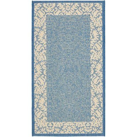 home depot outdoor rugs safavieh courtyard blue 2 ft x 3 ft 7 in indoor