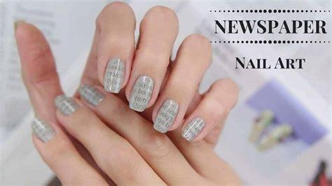 newspaper nail art  easiest   stand