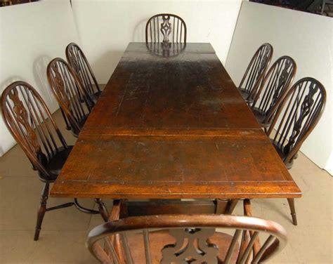 English Oak Windsor Chair & Rustic Refectory Table Set