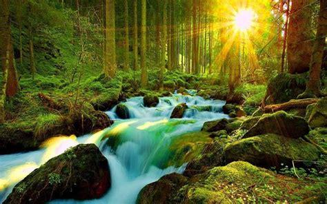 Desktop Natural Backgrounds Waterfall Hd Wallpaper