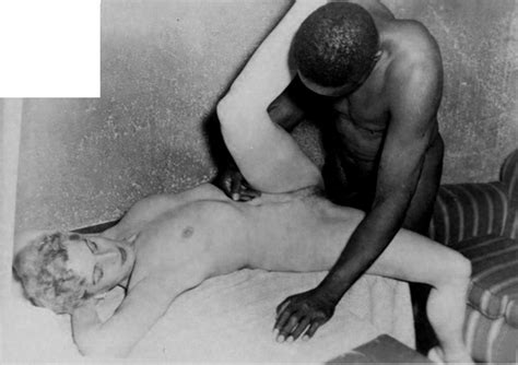 Porn Pic From Vintage Interracial Black And White
