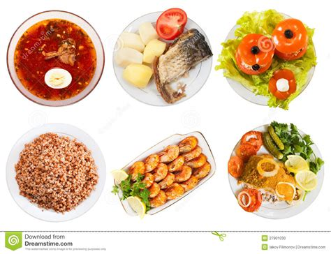 best of cuisine top view of few plates with food stock photo image of