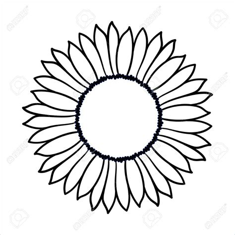 simple sunflower drawing    clipartmag