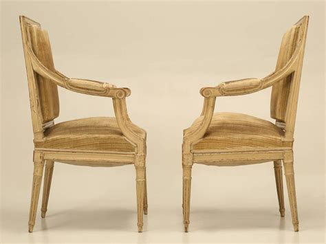 Antique Louis Xvi Armchairs In Original Paint For Sale At