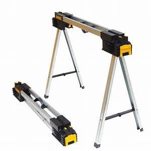 Professional Woodworker 45.5 in. Folding Metal Sawhorse ...