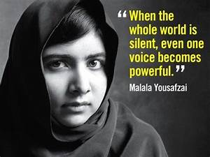 When the whole world is silent, even one voice becomes ...