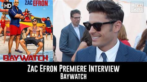 Zac Efron Interview - Baywatch Global Premiere - YouTube