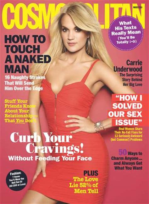 Carrie Underwood on the Cover of Cosmopolitan Magazine