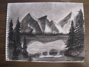 Mountain Landscape Charcoal by Digg409 on DeviantArt