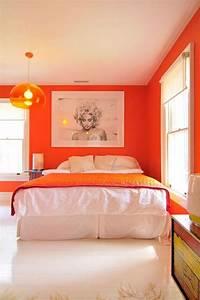 Schlafzimmer In Brauntönen : schlafzimmer in orange einrichten und dekorieren ~ Sanjose-hotels-ca.com Haus und Dekorationen