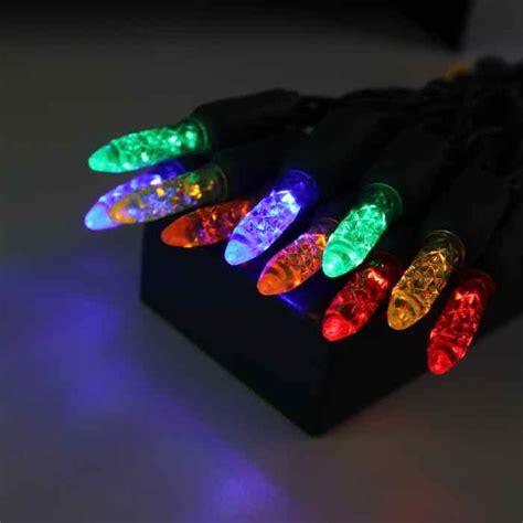 battery powered led christmas lights m5 multi green wire