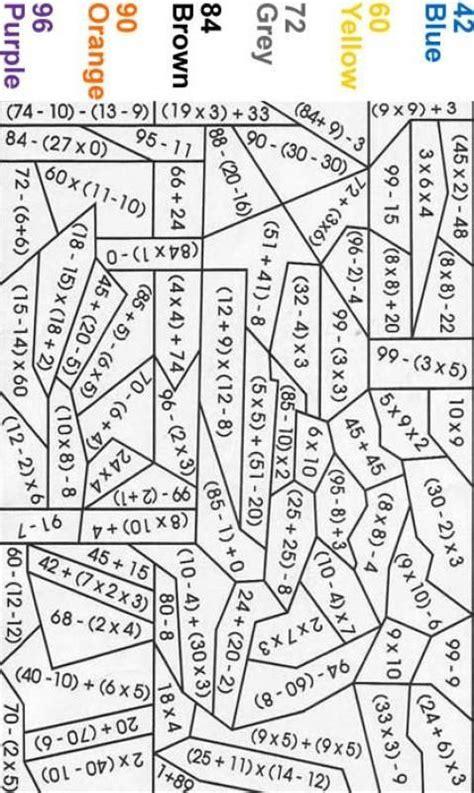 expert level color  number blue fun math worksheets math coloring worksheets math coloring