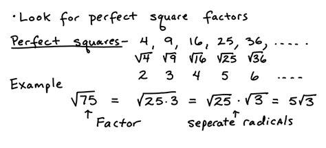 simplifying radicals learning algebra   easy