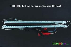 2 X 50 Cm Led 12v Light Bars For Boat  Caravan  Camping