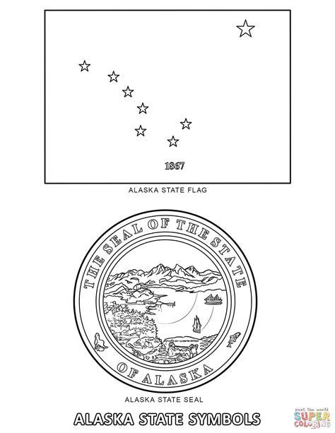 Alaska State Symbols Coloring Page Free Printable