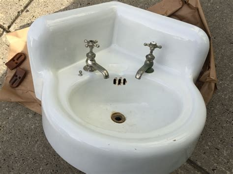 cast iron sinks for sale vintage porcelain over cast iron corner wall mount sink