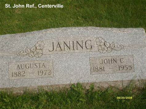 M Janing Cemetery 12 St John Reformed Church Manitowoc County Wisconsin Genealogy