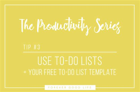 productivity series   lists