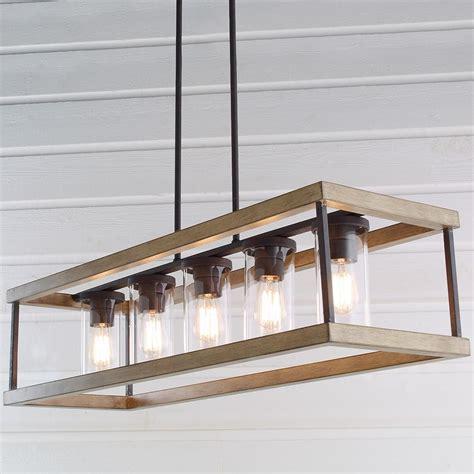 rectangular kitchen light fixtures indoor outdoor rectangular rustic chandelier in 2018 4542