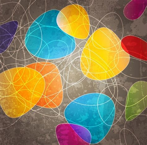 Abstract Shapes Curve by Abstract Curve Shapes Background Free Vector