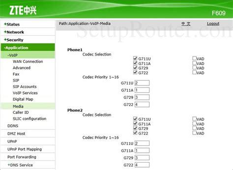 Here we are also provide reboot methods of zte routers. ZTE ZXHN F609 Screenshot VoIPMedia