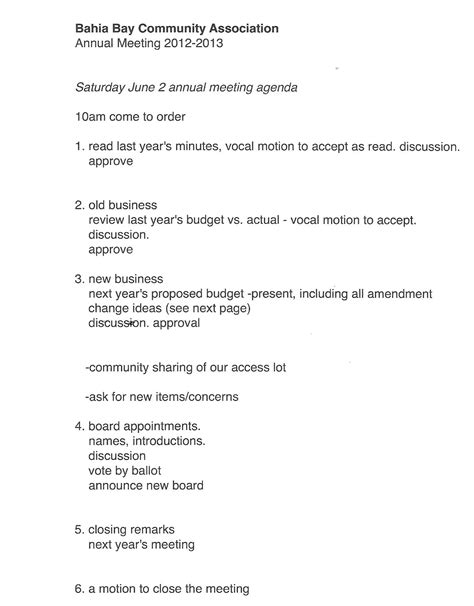 Condo Minutes Of Meeting Template by 27 Images Of Annual Hoa Meeting Agenda Template