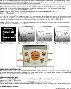 Modern Tr1003 Fireplace Remote Control Transmitter User