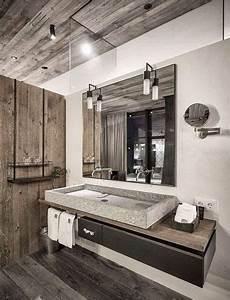 salle de bain en bois moderne et chic chic et maxi robes With les styles de meubles anciens 7 salle de bain industrielle inspiration