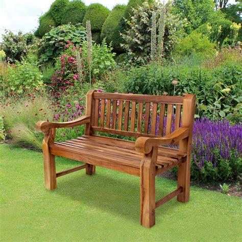 kingsbridge premium teak garden patio  seat bench