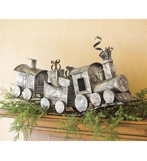 holiday metal train home  art  home decor holiday