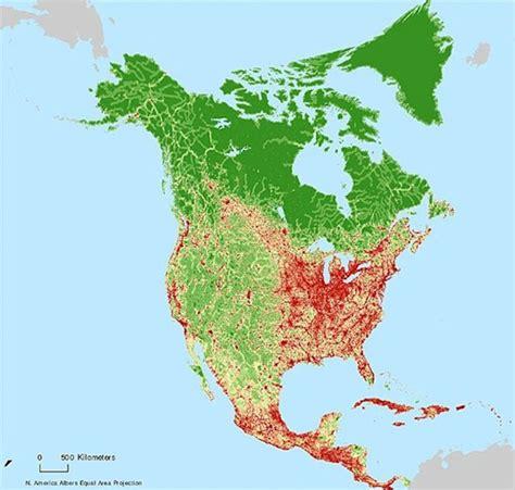 nasa voici la carte de l impact humain sur la terre
