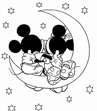 Minnie Mickey Mouse Coloring Pages Disney Kissing